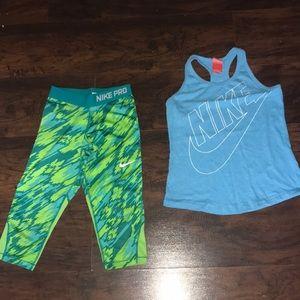 Nike legging and tank top set